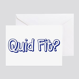 "Quid Fit? [""What's Happening?] Greeting Cards"
